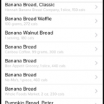 Fitbit Food Search List